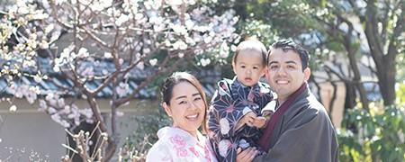 きものレンタル一期一会のファミリーご家族記念プラン